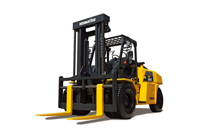 FORKLIFTS  Komatsu forklifts can provide efficient performance by using application-specific attachments to handle different materials, such as pulp, recycling paper and lumber. Komatsu offers 1.5-ton to 25-ton models, all compliant with stringent emission gas controls, helping customers select the optimal models for their applications.  Back More Details