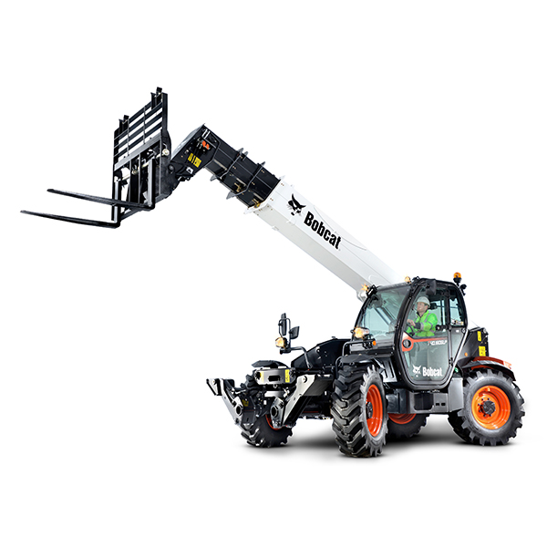 Telehandlers  Imagine combining the speed, agility and strength of a skid-steer loader with the extended reach of a forklift. That's exactly what you get with a Bobcat TeleHandler, a multipurpose utility machine designed to handle your toughest jobs effortlessly and efficiently. Back More Details