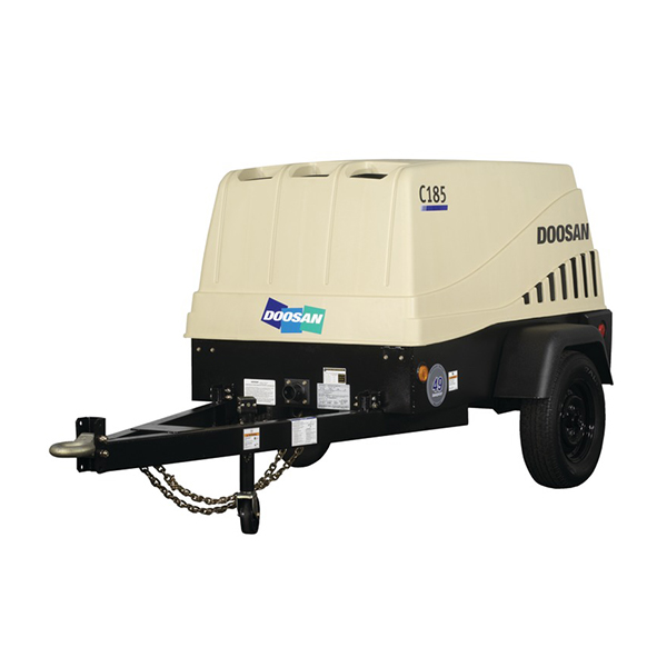 PORTABLE POWER AND COMPRESSORS  Doosan's portable air compressors boast ruggedness, less noise and unrivaled performance. Weight reduction designs, stable operation, and powerful engines enable them to be used safely and efficiently in any working environment. Back More Details