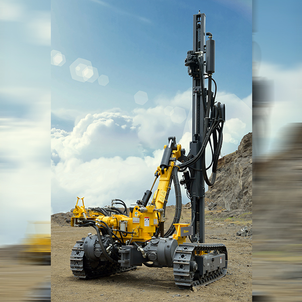 AirRoc T35  High powered, top hammer undisputed VL140 rock drifter drill rig with expectional mobility and performance for open pit mines and stone quarries. Back