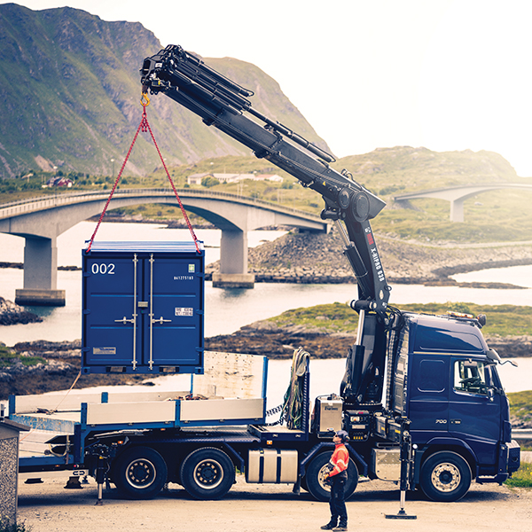 HIAB Loader Crane From their power and control to their safety and reliability, HIAB Loader Cranes offer performance like no other. Their equipment portfolio includes cranes covering the whole scope of stacking limits and execution. The basic ranges are only a beginning. Capacities, booms, tools and control systems can all be combined for broad flexibility and high degree of specialisation. Together we define your needs and configure the HIAB crane to match them – in every detail. You stay competitive with HIAB loader cranes, whether your business depends on heavy lifting, fast loading cycles or the most delicate precision – or all of the above. From their power and control to their safety and reliability, HIAB loader cranes offer performance no other loader crane can match. Back More Details