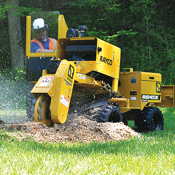 RAYCO Stump Grinders Incorporating rugged design & greater cutting efficiency, Rayco Stump Grinders help you grind more and muscle through the toughest stump faster. It's grinding…redefined. Back More Details
